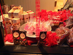 Gifts, chocos wrapped and displayed
