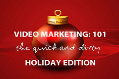 """Red brochure about """"Video Marketing Seminar 101"""""""