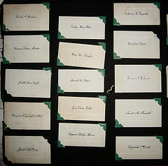Collection of white calling cards